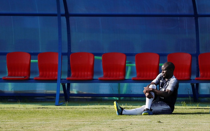 Soccer Football - World Cup - France Training - France Training Site, Moscow, Russia - July 12, 2018     Frances NGolo Kante during training   REUTERS/Gleb Garanich