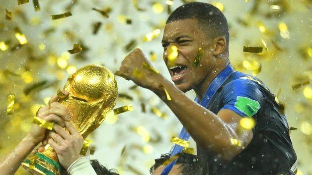 Kylian Mbappe punya peran penting di balik keberhasilan Prancis juara Piala Dunia 2018.