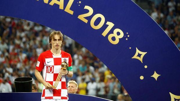 Luka Modric sebelumnya terpilih sebagai pemain terbaik Piala Dunia 2018.