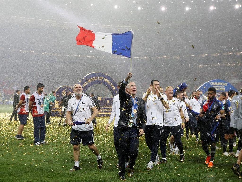 Juarai Piala Dunia 2018, Prancis Sejajar Uruguay dan Argentina