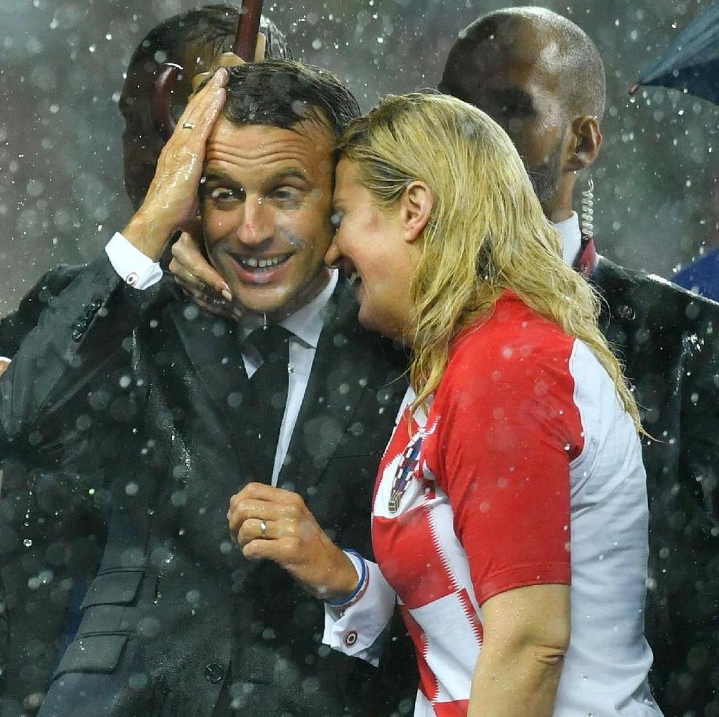 Luka Modric cs Kalah, Presiden Kroasia Hujan-hujanan di Luzhniki