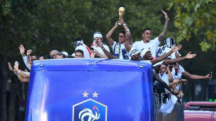 Prancis juara Piala Dunia untuk kali kedua setelah 1998. (Foto: Eric Feferberg/Pool via Reuters)