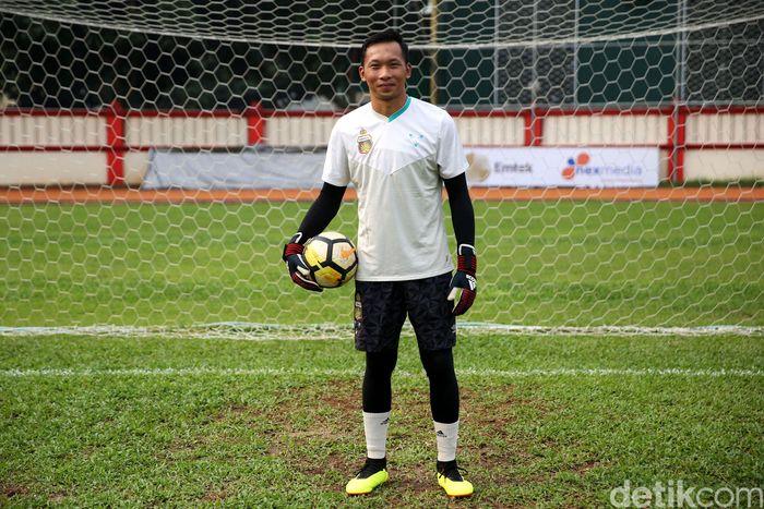 Awan Setho berlatih bersama tim Bhayangkara FC beberapa waktu lalu.