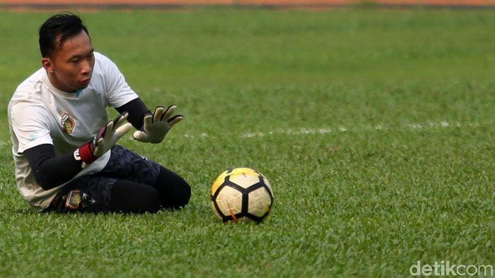 Awan Setho dicadangkan terus setelah Bhayangkara FC ditangani Paul Munster. (Foto: Agung Pambudhy/detikSport)