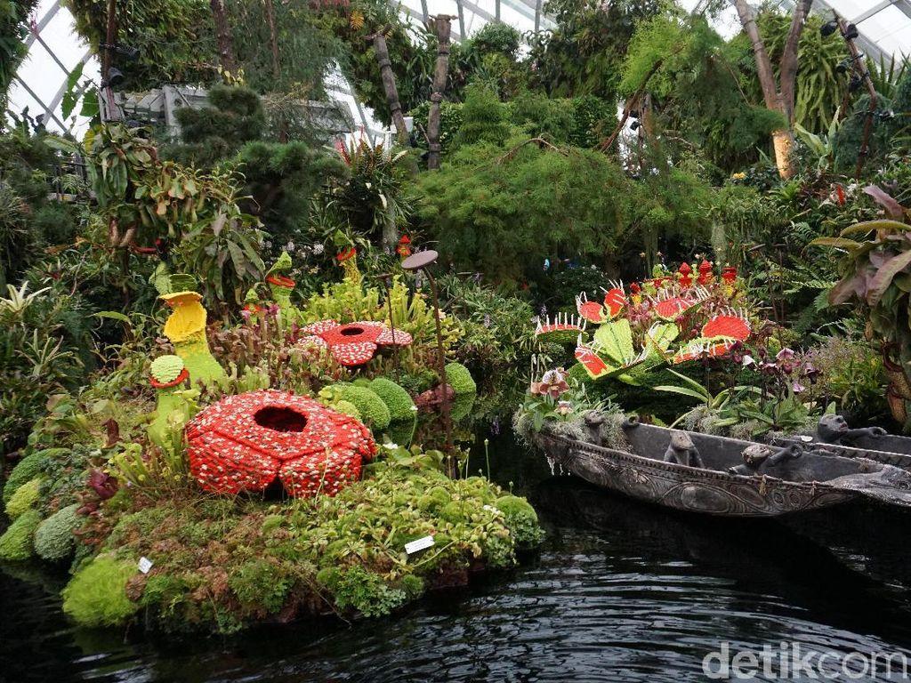 Foto: Melihat Taman Indoor Raksasa Kebanggaan Singapura
