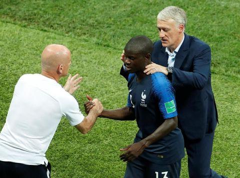 N'Golo Kante dan Didier Deschamps