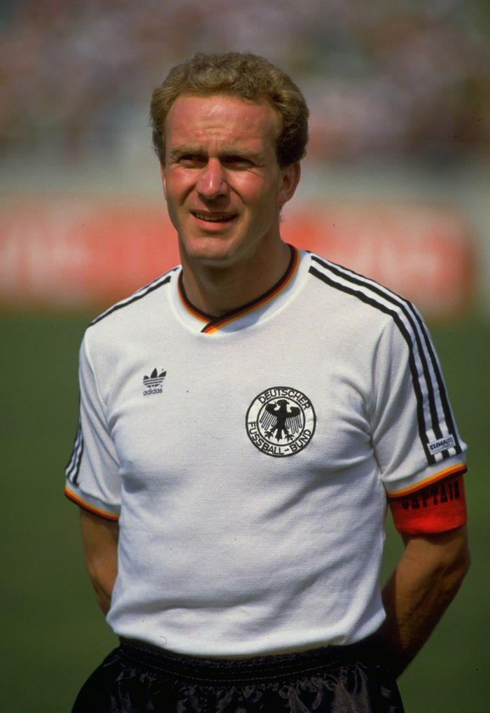 Karl-Heinz Rummenigge. Main di Piala Dunia 1978, 1982, 1986 bersama Jerman dengan pencapaian terbaik finis kedua (1982, 1986). (Foto: AllsportUK /Allsport)