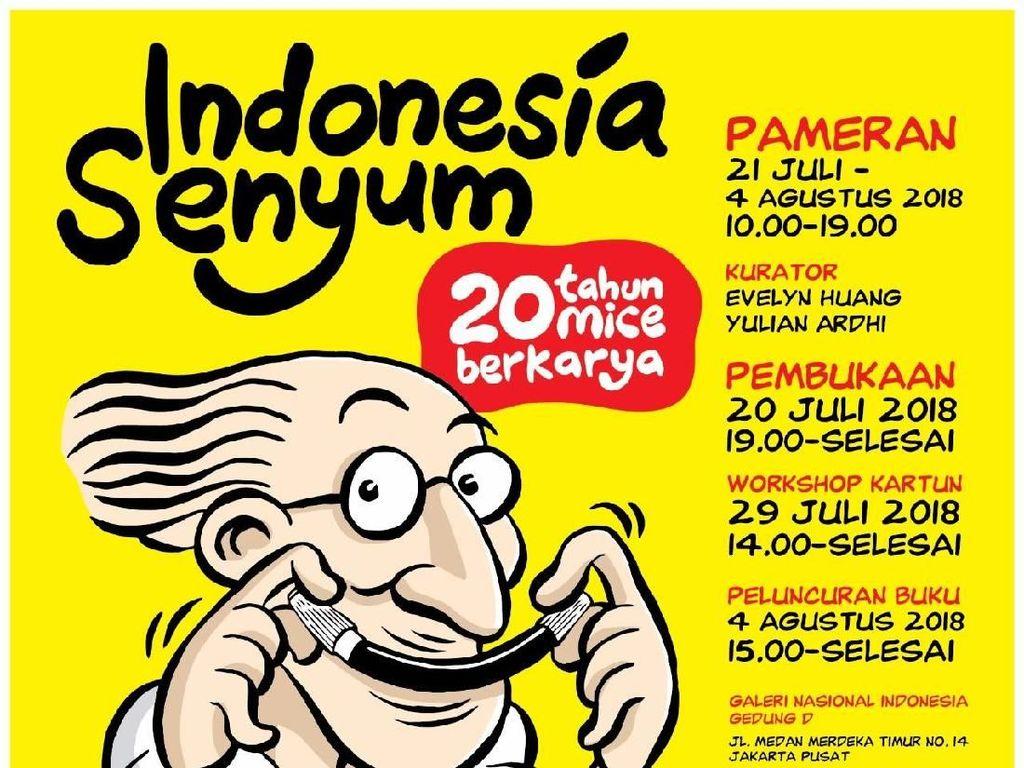 Kartunis Mice Gelar Pameran Tunggal Indonesia Senyum - 20 Tahun Berkarya
