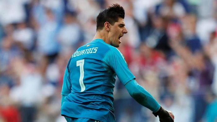 Kiper Chelsea Thibaut Courtois disebutkan segera pindah ke Real Madrid. (Foto: Lee Smith/Reuters)