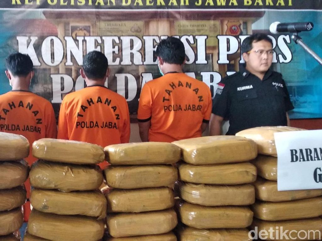Ganja 1 Kuintal Asal Aceh Gagal Beredar di Jabar
