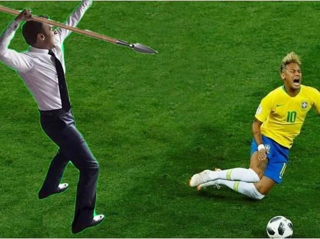 Meme Kocak Selebrasi Presiden Prancis di Piala Dunia