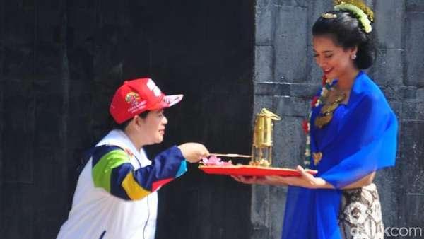 Api Abadi Mrapen untuk Obor Asian Games Disulut Puan, Dibawa Yustedjo