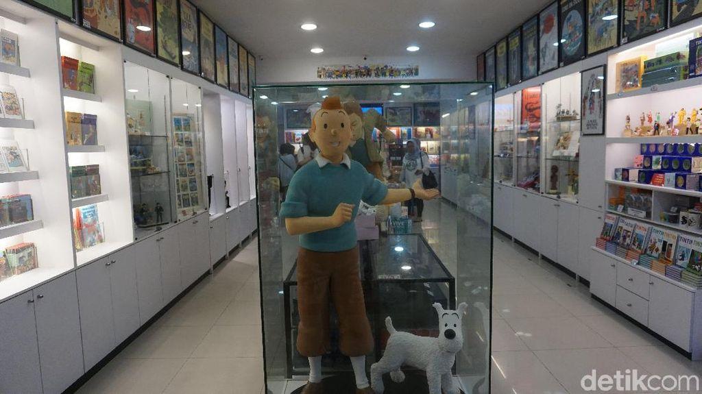 Foto: Toko Suvenir Serba Karakter Tintin, Lucu Banget!