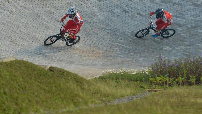 Ilustrasi atlet BMX Indonesia (Wahyu Putro A/Antara Foto)