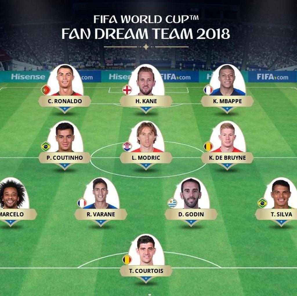 Inilah Tim Terbaik FIFA di Piala Dunia 2018