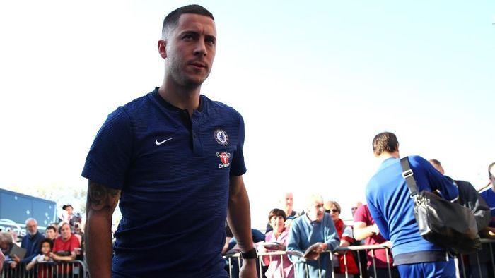 Eden Hazard diklaim bisa meningkatkan level permainan jika bergabung dengan Real Madrid (Clive Brunskill/Getty Images)