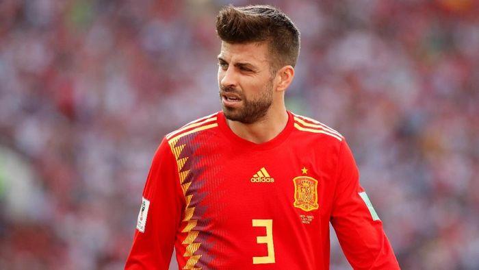 Gerard Pique memastikan tak akan tampil lagi untuk timnas Spanyol (Foto: Christian Hartmann/Reuters)
