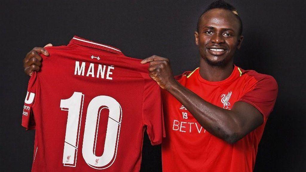 Nomor 10 Liverpool Milik Sadio Mane