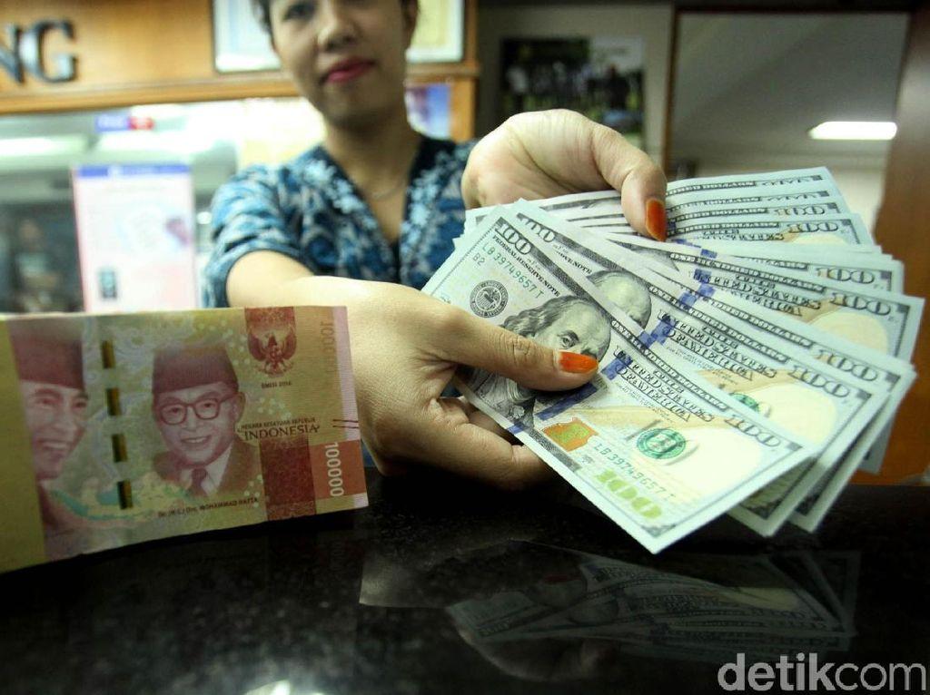 Dolar AS Turun ke Rp 14.220