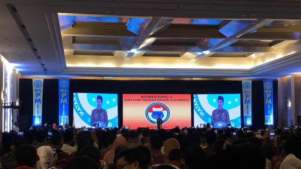 Jokowi Buka Munas Ikatan Alumni PMII