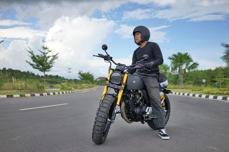Yamaha Scorpio Berbaju Scrambler