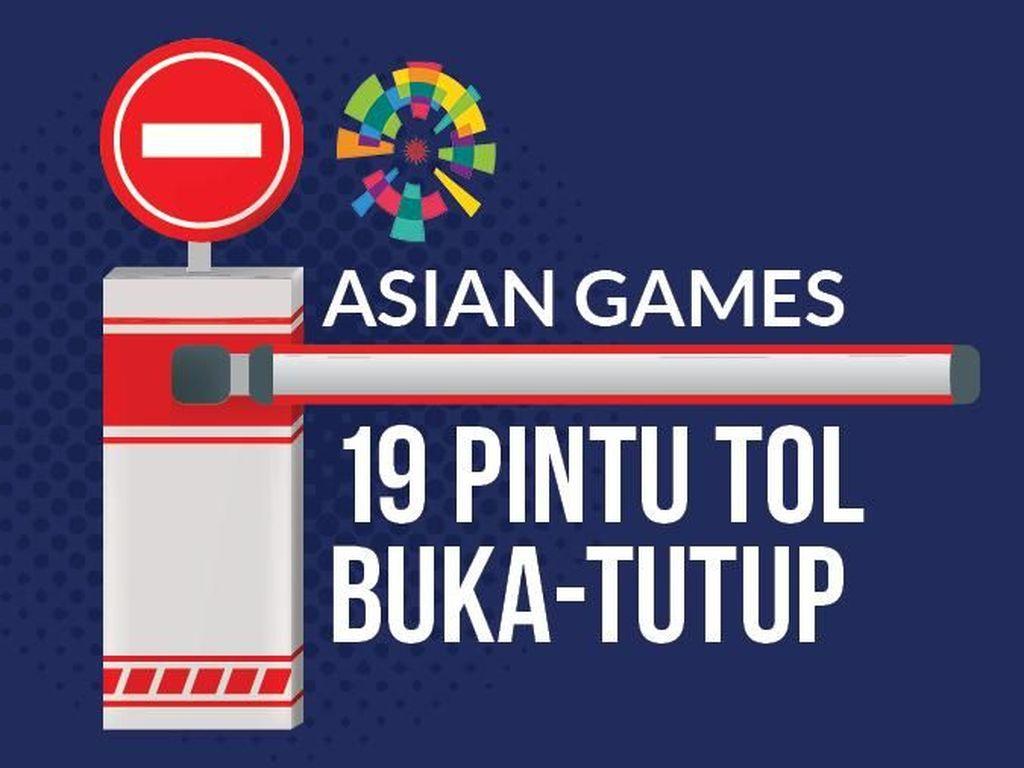 Asian Games, 19 Pintu Tol Buka-Tutup