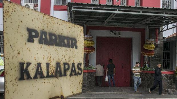 Suasana Lapas Sukamiskin Klas 1A Bandung, Jawa Barat, Sabtu (21/7), usai OTT KPK terhadap Wahid Husen.