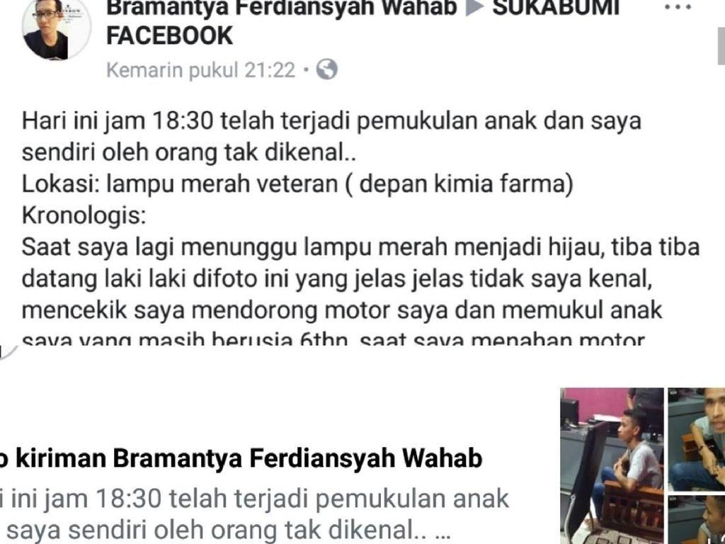 Viral Pemuda Pukul Anak Perempuan di Sukabumi