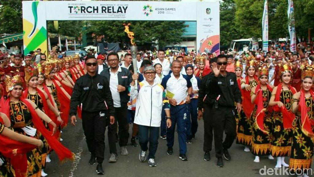 Dua Kapolres Kawal Obor Asian Games 2018 di Banyuwangi