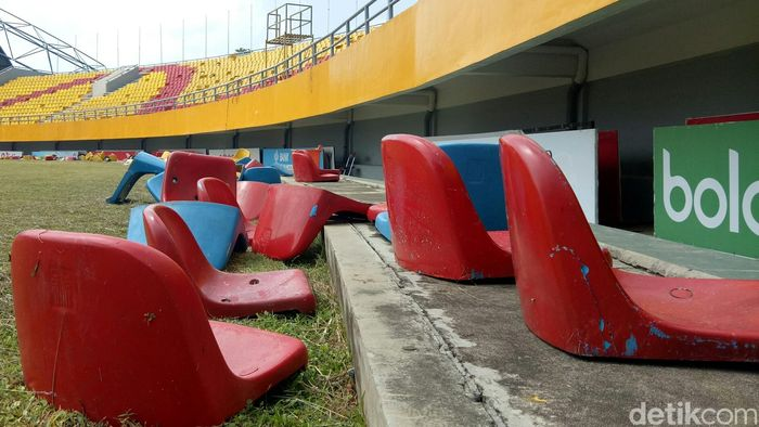 Begini penampakan terkini Stadion Gelora Sriwijawa di Jakabaring Sports City.