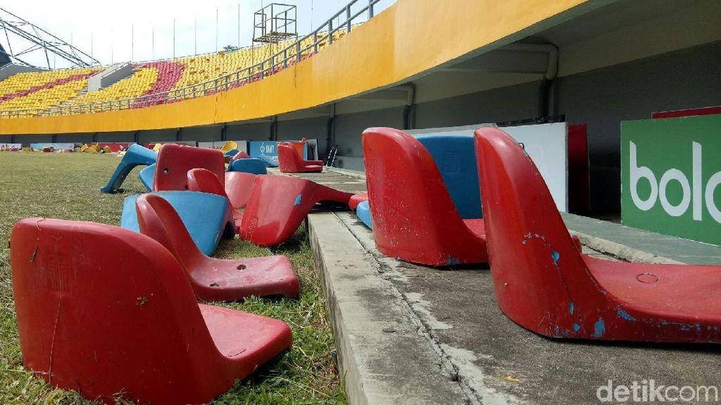 Miris, Potret Gelora Sriwijaya yang Dirusak Suporter