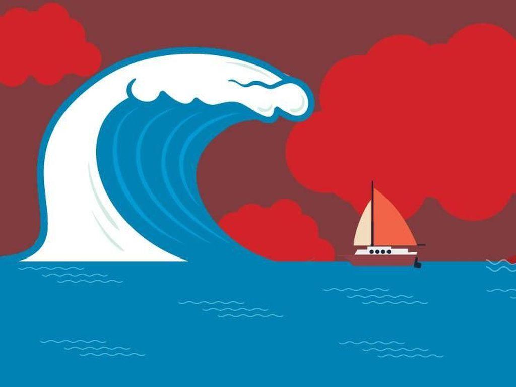 BNPB: Gelombang Tinggi di Manado karena Cuaca, Bukan Tsunami