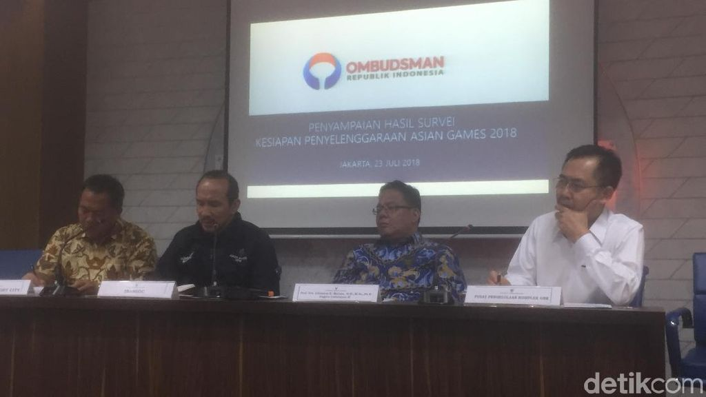 Survei Ombudsman: 14 Lokasi Asian Games Tak Ramah Disabilitas