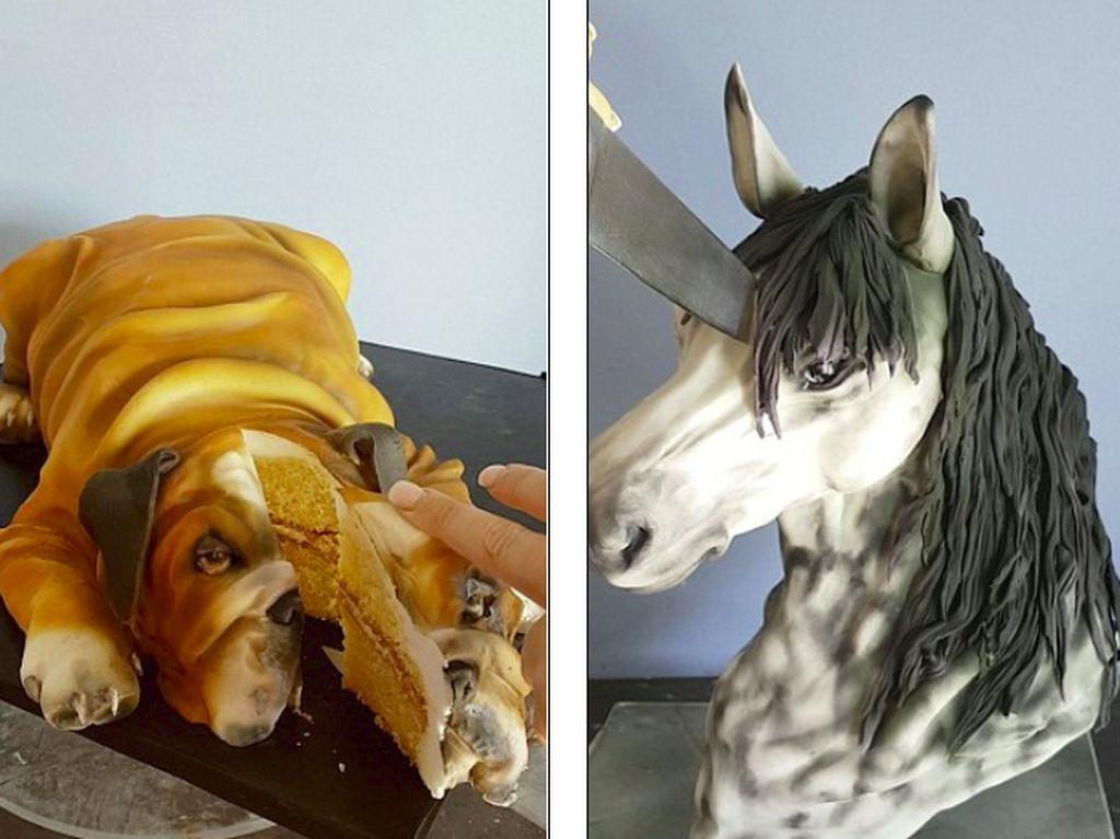 Unggah Video Cake Bentuk Hewan Asli dan Dipotong, Seniman Kue Ini Diprotes!