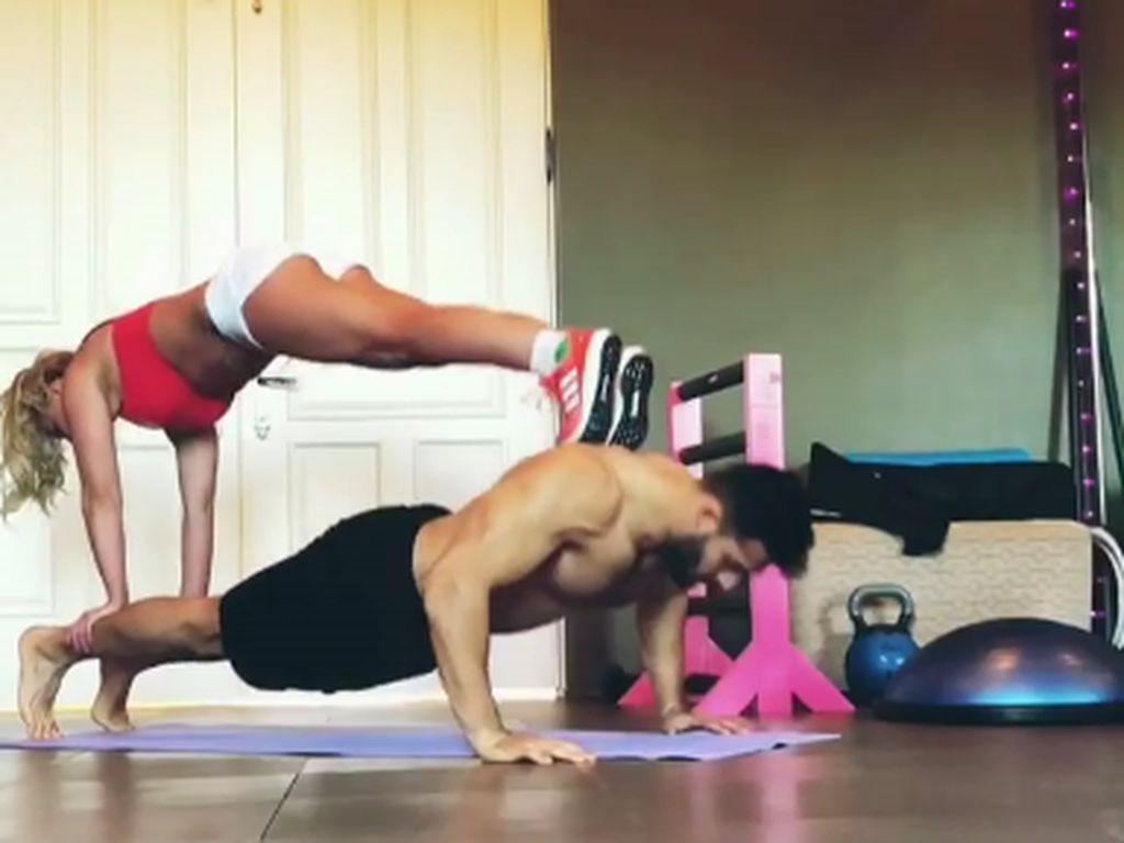Couple Goals! Intip Britney Spears dan Sam Asghari Olahraga Bareng
