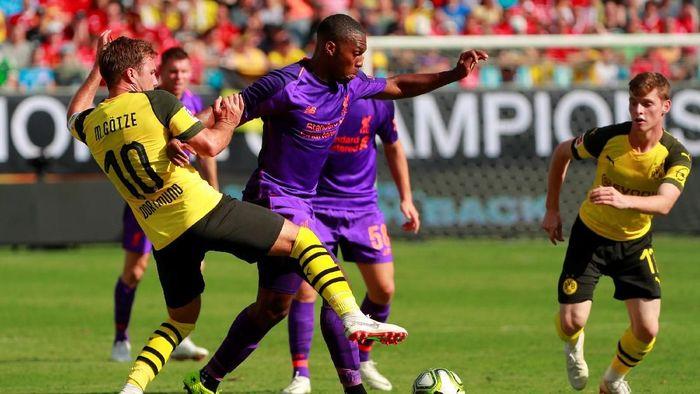 Sempat Unggul Duluan, Liverpool Dikalahkan Dortmund 1-3. (Foto: Chris Keane/Reuters)