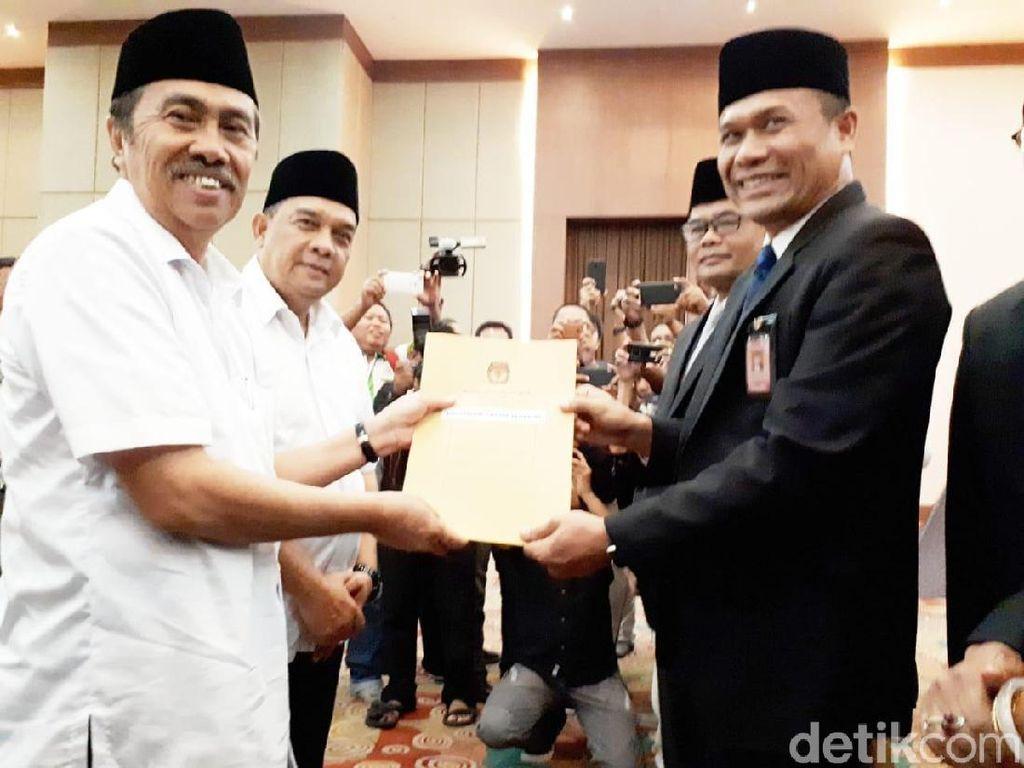 KPU Tetapkan Syamsuar-Edy Pemenang Pilgub Riau