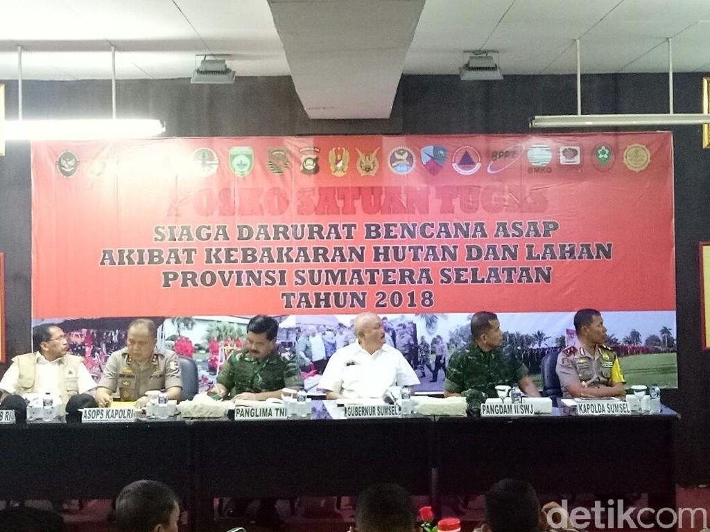 Panglima TNI Tinjau Karhutla di Sumsel: 99% Ulah Manusia