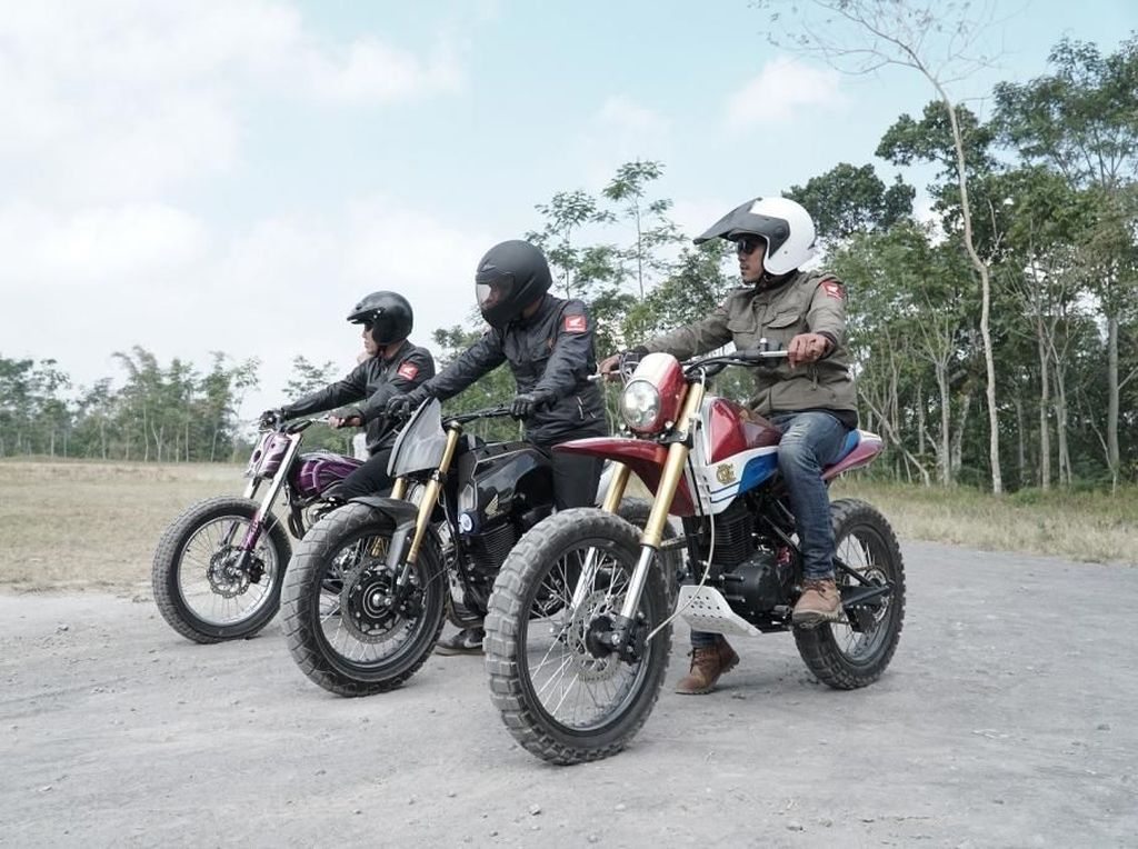 Motor Trail Honda Dimodif dengan 3 Gaya Keren