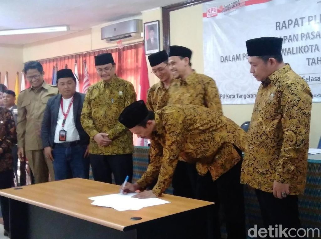 KPU Tetapkan Arief-Sachrudin Pemenang Pilwalkot Tangerang