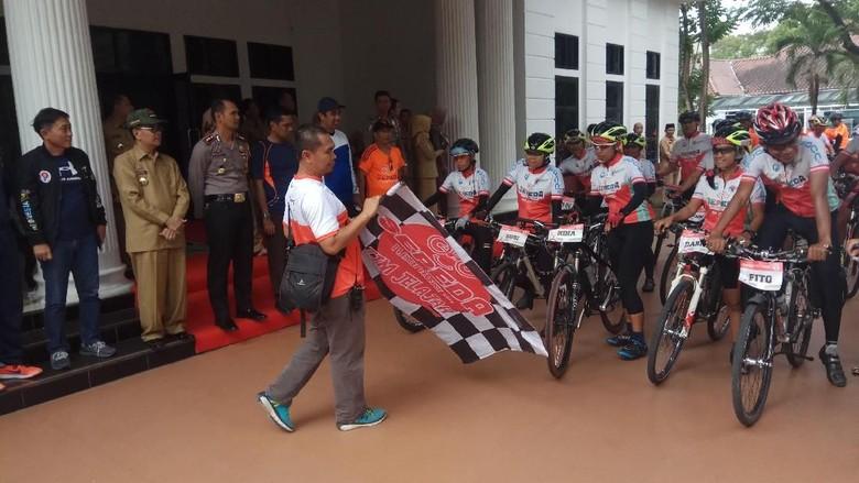 Tim Jelajah Sepeda Nusantara 2018 Tiba di Sulsel