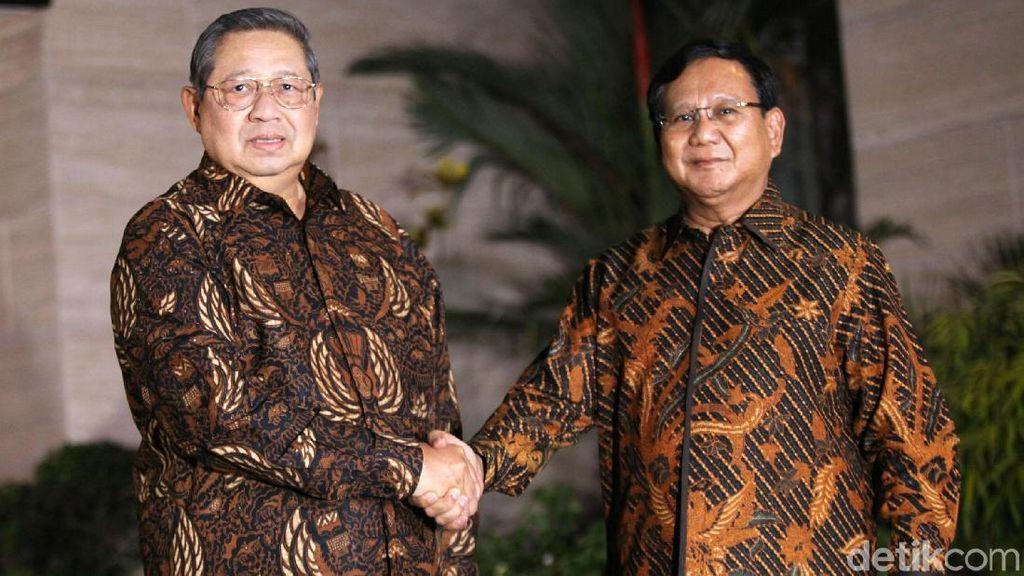 Potret Pertemuan SBY dan Prabowo yang Berbalut Batik
