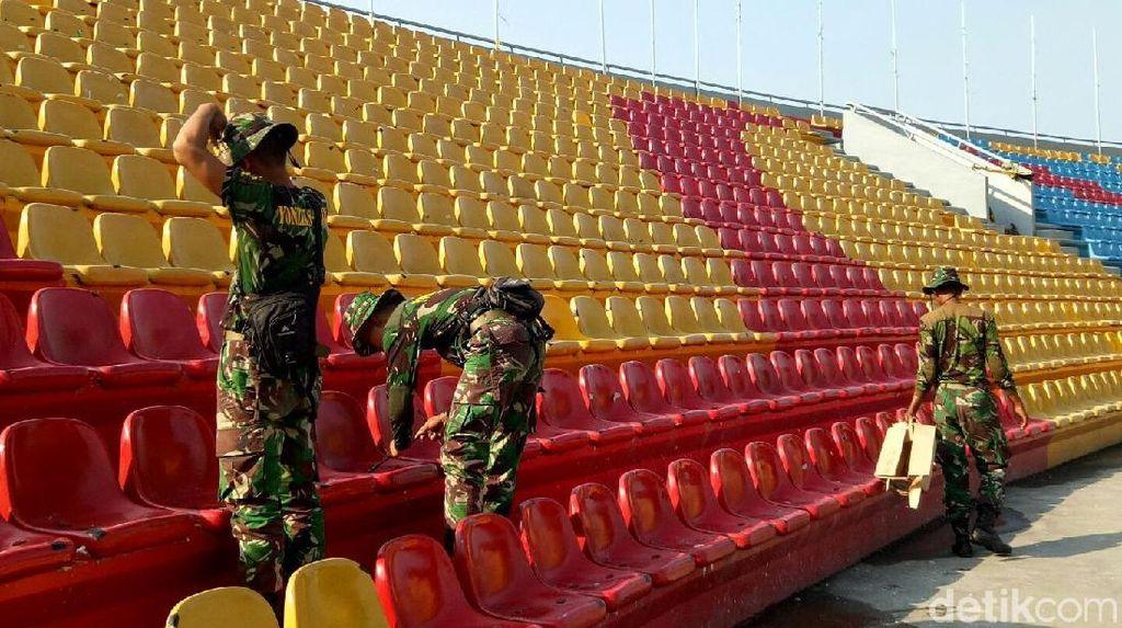 Top! Stadion Jakabaring Kini Rapi Lagi