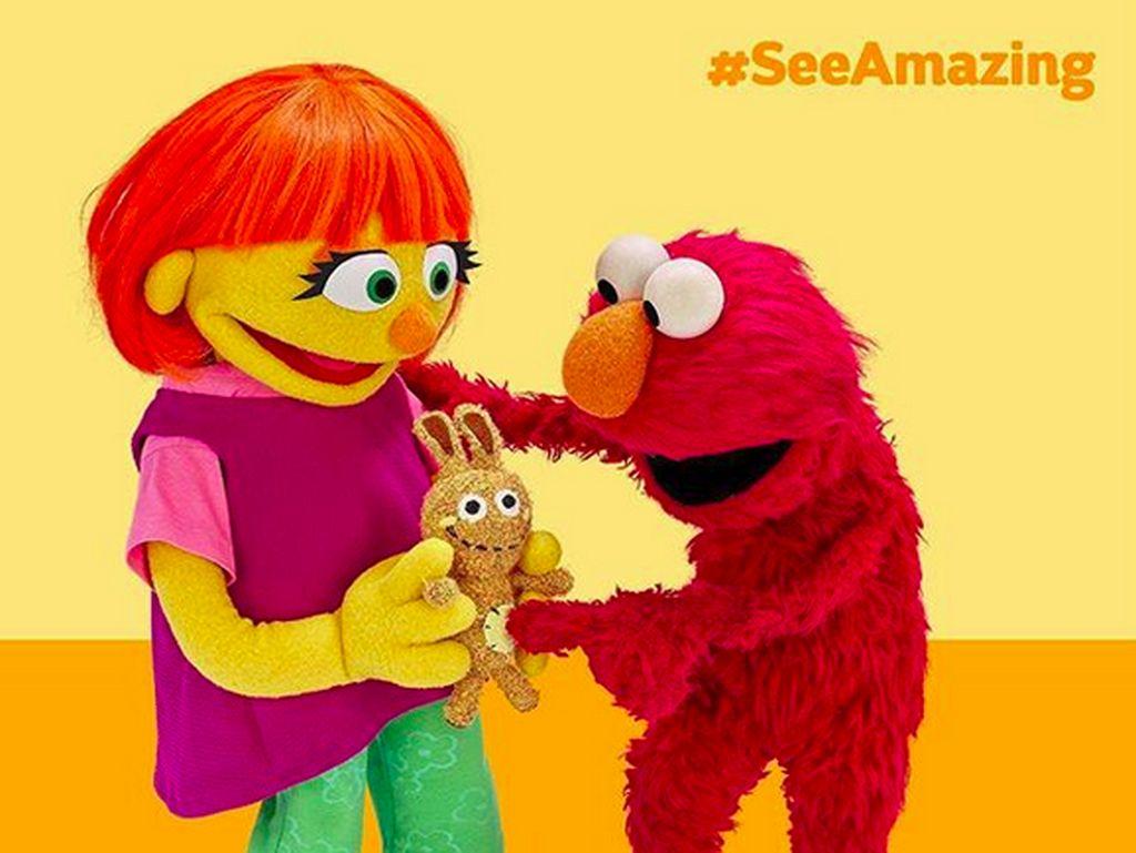 Sweet! Saat Boneka Sesame Street Bawa Perubahan untuk Anak Autis