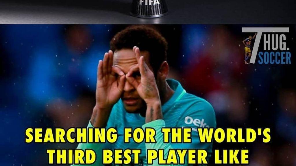 Tak Masuk Kandidat The Best FIFA, Neymar Diserang Meme