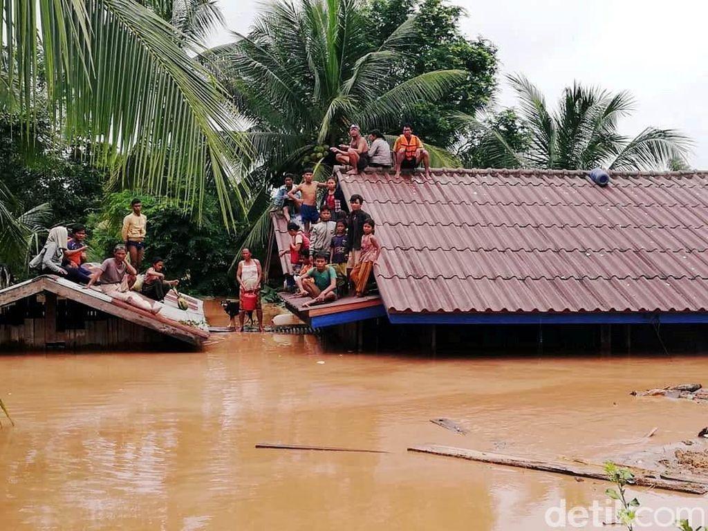 Bendungan Jebol, Ribuan Orang Hilang dan Kehilangan Rumah di Laos