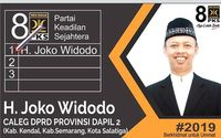 PKS Ungkap Sosok Viral Joko Widodo Caleg Jateng