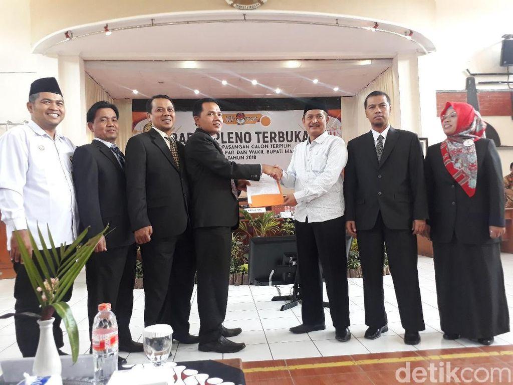Sah, KPU Tetapkan Zaenal-Edy Sebagai Bupati dan Wabup Magelang