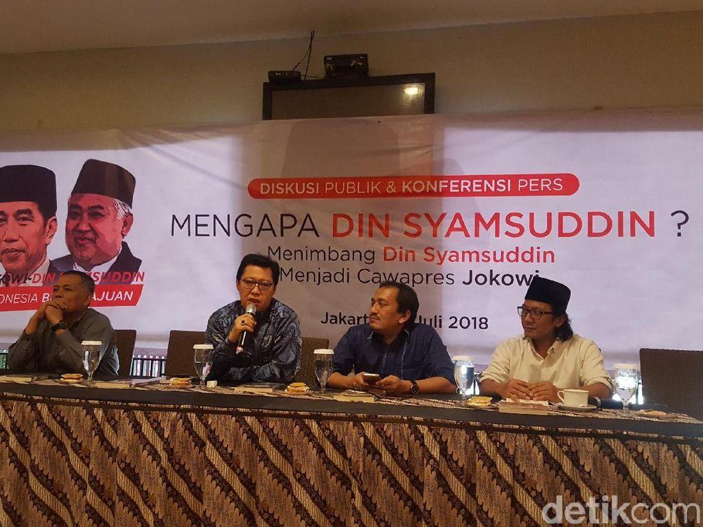 Relawan Dorong Din Syamsuddin Jadi Cawapres Jokowi