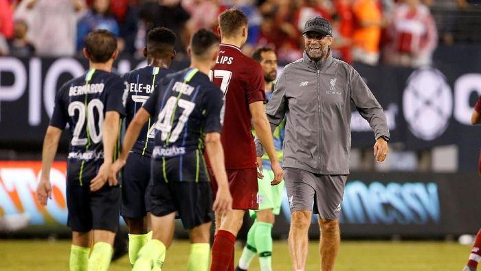 Manajer Liverpool Juergen Klopp menganggap kemenangan atas Manchester City di laga pramusim tak terlalu penting (Foto: Adam Hunger/Reuters)